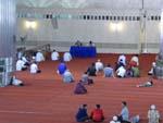イスティクラルモスクで講話中