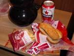 ケンタッキーのサンドイッチとポテト