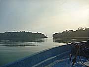 ケイ島西海岸北部にある入り江