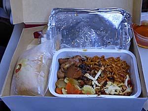 バティックエアジャカルタ-アンボン行き機内食
