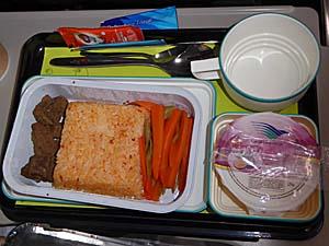 ガルーダインドネシア航空 アンボン-ジャカルタ 機内食 サピ