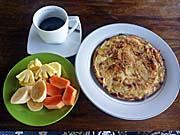グリーン・オリー・インの朝食の一例