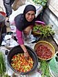 ロンボク島の料理に欠かせないロンボク(唐辛子)
