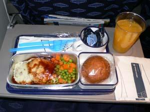 メキシカーナ航空LAX-MEX機内食