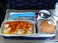 MX385メキシコシティ-グアテマラシティ機内食