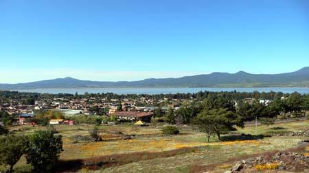 丘の上の遺跡からの眺め