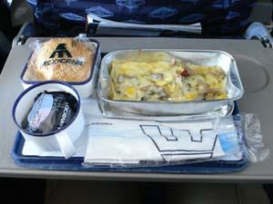 メキシカーナ航空GDL-LAX機内食