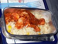 チキンのトマト煮込みのご飯載せ