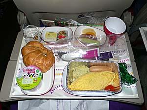 タイ国際航空 羽田-バンコク機内食