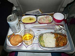 タイ国際航空 バンコク-カトマンズ機内食