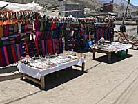 手織りの織物を売る店
