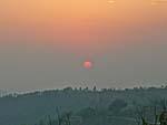ゴルカビサウニのバルコニーから見た夕日