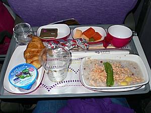 タイ国際航空 バンコクー成田機内食