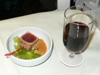大韓航空:成田-ロスビジネスクラス前菜
