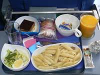 ラン航空:ロス-リマ機内食