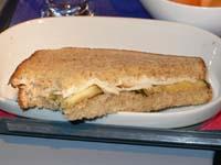 サンドイッチの中身断面