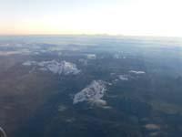 アンデス山脈を見下ろす