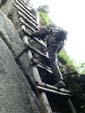 階段が作れずはしごがかかる