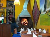ピザ焼き用の煉瓦釜