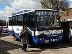 ウルバンバ-クスコ間を走るローカルバス