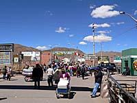 ボリビア側の国境を引きで撮った写真