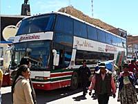 オルメーニョ社の国際バス。実はリマ発