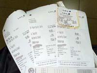 問題の搭乗券3枚