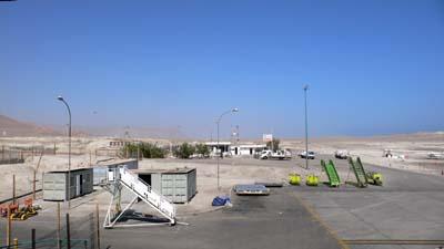 イキケの空港は砂漠の真ん中にある。