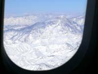 冬のアンデス山脈