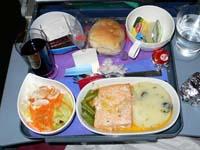 サンティアゴ-リマの機内食