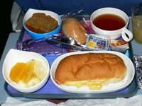 リマ-ロサンゼルス間機内食(朝食)