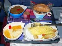 リマ-ロサンゼルス間機内食