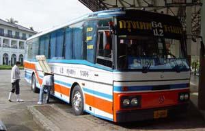 乗車したバス