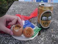 卵とビール