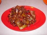 鹿肉の黒胡椒炒め