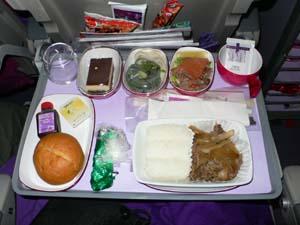 タイ航空NRT-BKK機内食1