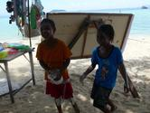 ピピ島:モーゲン族の子供たち