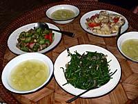 ラフ族の村でごちそうになったご飯