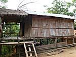 宿泊した竹でできた小屋