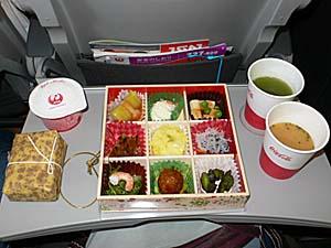 日本航空 台湾線の松華堂御膳シリーズ