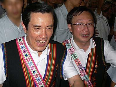台湾総統の馬英九氏と台東市長