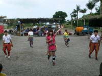民族舞踊レストランの踊り子の踊り