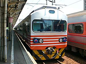 台南に停まっていた列車