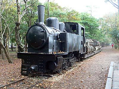 羅東林業文化園区に展示されている汽車