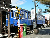 池上弁当博物館の前にある古い列車