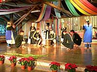 ブヌン族の八重唱のショー