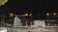日が暮れた後の温泉
