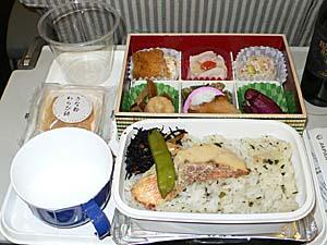 日本航空 羽田-松山機内食