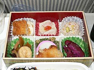 日本航空 羽田ー松山機内食 弁当アップ