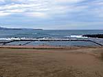 海を利用した人工プール